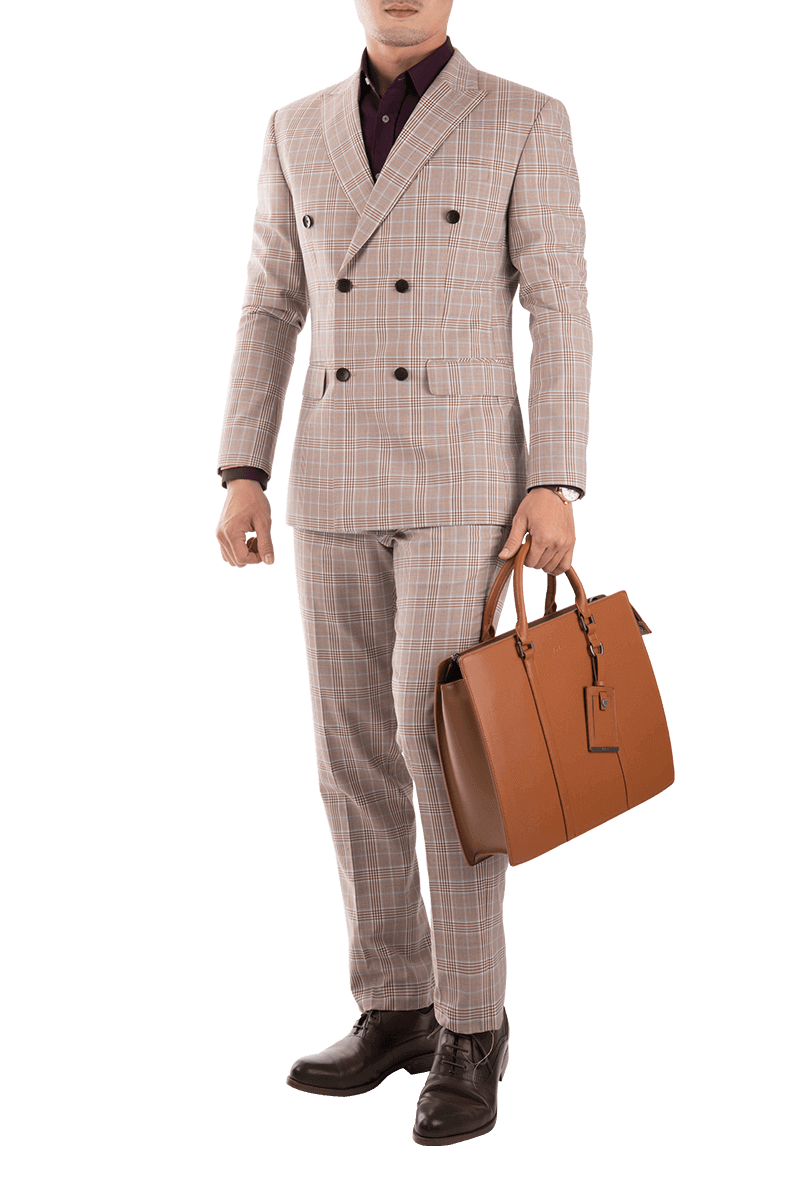 Light Pink Check Suit