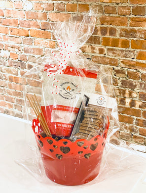 Spread S'more Love Valentine Gift Basket - Limited Quantity