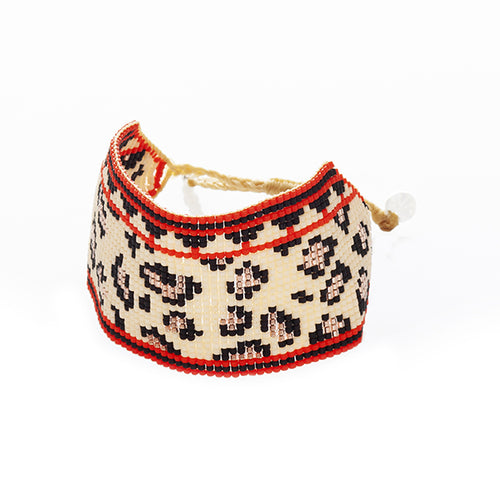 Exotic Cat Large Cuff - Red