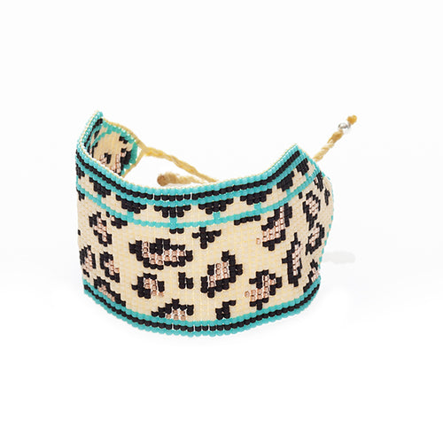 Exotic Cat Large Cuff - Turquoise