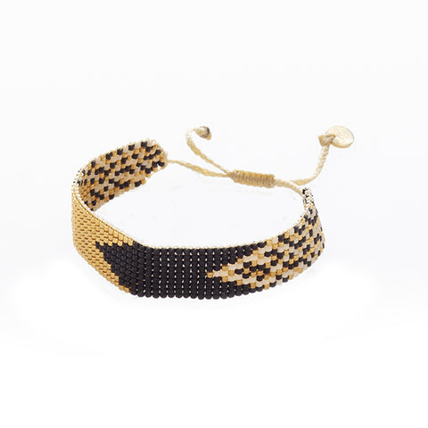 Exotic Cat Large Cuff -  Black