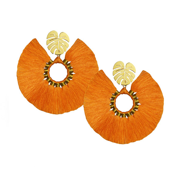Calm Palm Earrings (Orange)