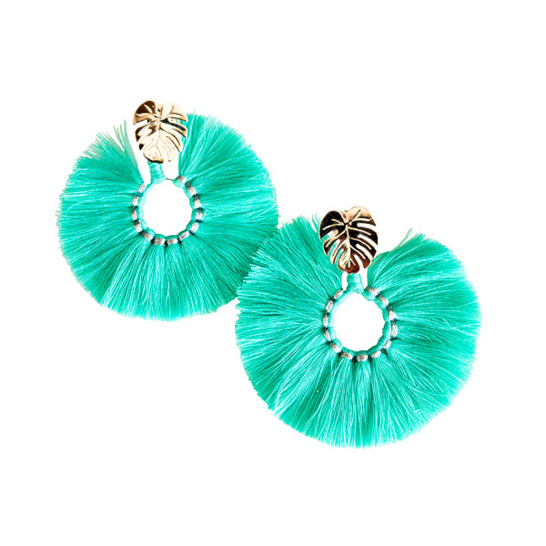 Calm Palm Earrings (Turquoise)