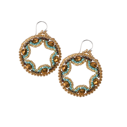 Hotcakes Earrings (Turquoise)
