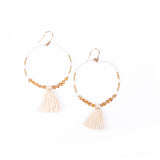Resort Island Hoops (Cream)