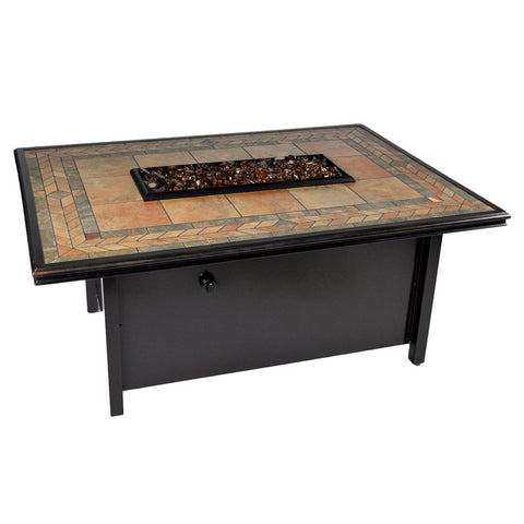 Tretco Panama 50 inch x 36 inch Fire Pit Table - PatioElegance