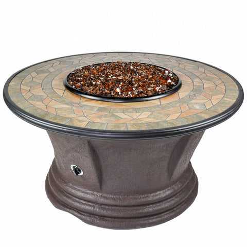 Tretco Havana II 48 inch Fire Pit Table - PatioElegance