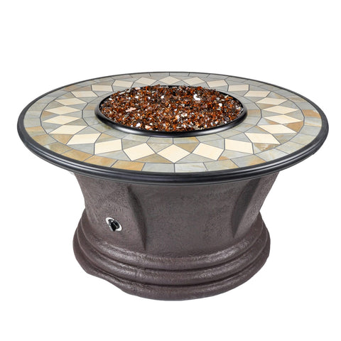 Tretco Havana I 48 inch Fire Pit Table - PatioElegance