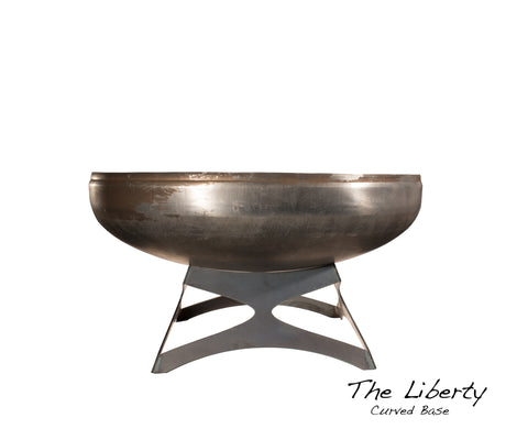 "Ohio Flame 30"" Liberty Fire Pit with Curved Base OF30LTY_CB"