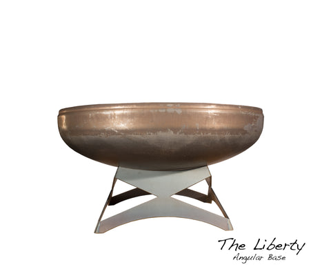 "Ohio Flame 24"" Liberty Fire Pit with Angular Base OF24LTY_AB"