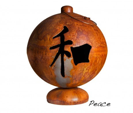 "Ohio Flame 30"" Fire Globe ""Peace, Happiness, Tranquility"" OF30FGPHT"