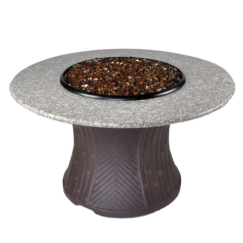 Tretco 42 inch Palm Fire Pit Table - PatioElegance
