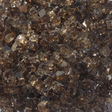 1/4 inch Copper Reflective Fire Glass Crystals - PatioElegance