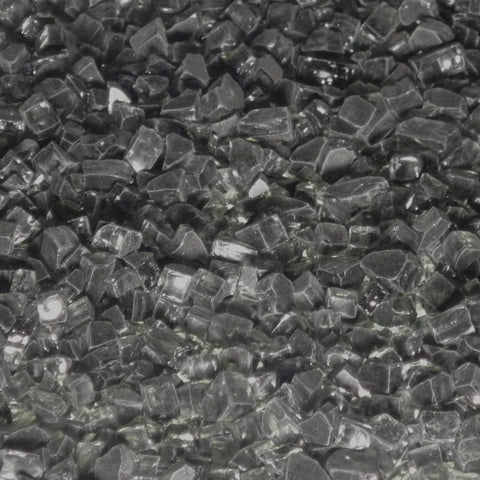 1/4 inch Black Fire Glass Crystals - PatioElegance