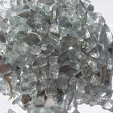 1/4 inch Crystal White Reflective Fire Glass Crystals - PatioElegance