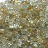 1/4 inch Golden Reflective Fire Glass Crystals - PatioElegance