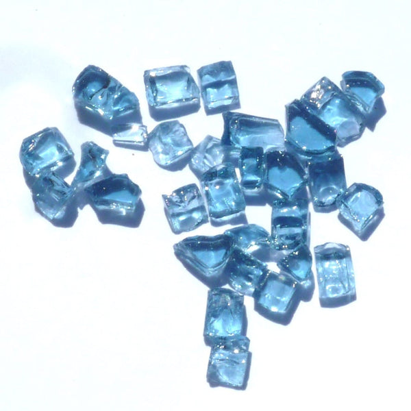 1/4 inch Blue Fire Glass Crystals - PatioElegance