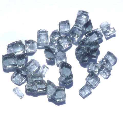 1/4 inch Slate Grey Fire Glass Crystals - PatioElegance