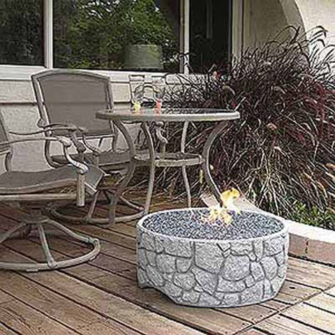Tretco River Rock Fire Pit - PatioElegance