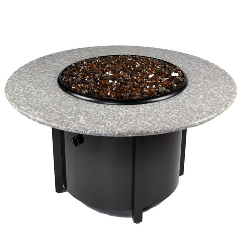 Tretco Venice III 42 inch Granite Fire Pit Table - PatioElegance