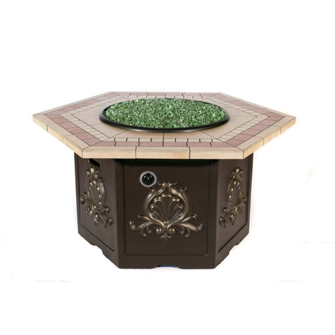 Tretco Classic Hex Fire Pit Table - PatioElegance
