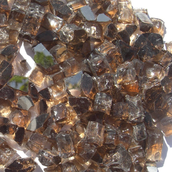 1/2 inch Copper Reflective Fire Glass Crystals - PatioElegance