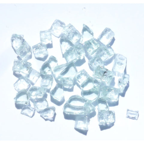 1/4 inch Diamond White Fire Glass Crystals - PatioElegance