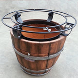 Tuscan Wine Barrel Fire Pit - PatioElegance