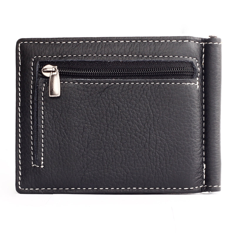 Slim wallet with zipper