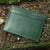Green Leather Minimalist Wallet