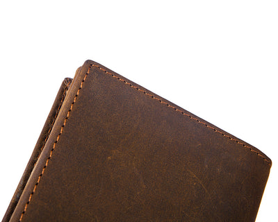 Long Retro Genuine Leather Wallet