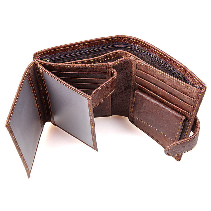 Genuine Leather Coffee Wallet