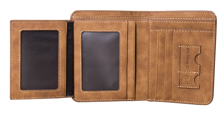 Vintage Short Leather Wallet