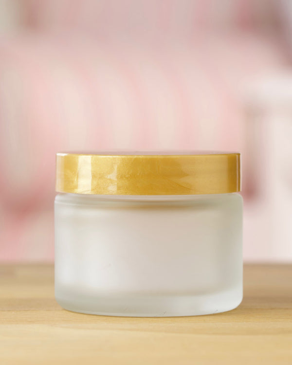 Frosted Glass Jar w/ Gold Lid · 50 ml