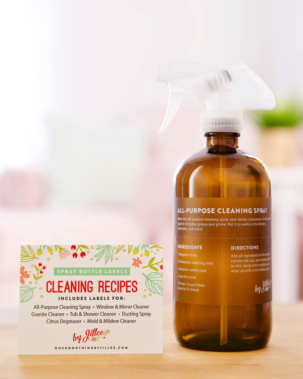 Spray Bottle Labels: Cleaning Recipes