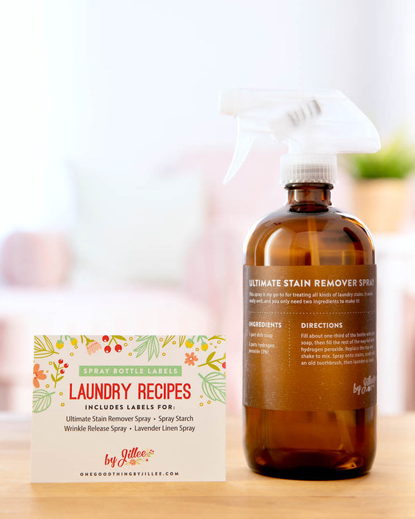 Spray Bottle Labels: Laundry Recipes
