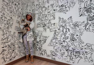 Meet the Belgian Artist Who Doodles Her Entire House / press