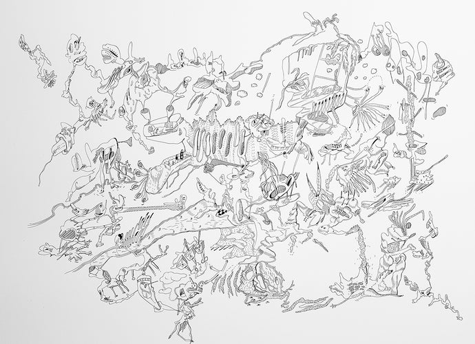 Fantasy doodle pendrawing 4K