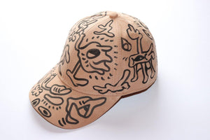 Beige Doodle Cap [one of a kind]