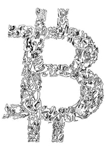 Downloadable bitcoin doodle logo
