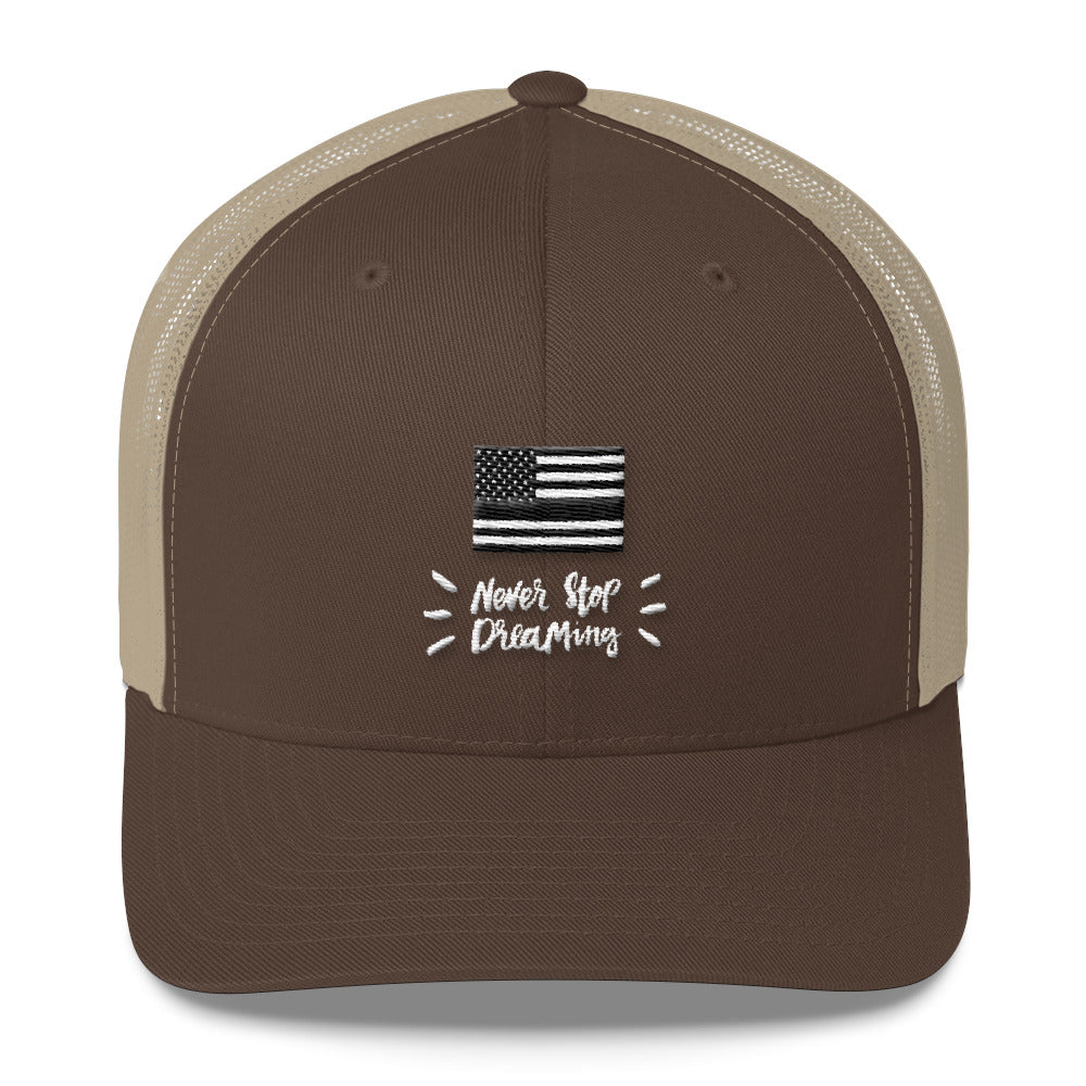 Trucker Hat: Never Stop...-TrainOurTroops-TrainOurTroops