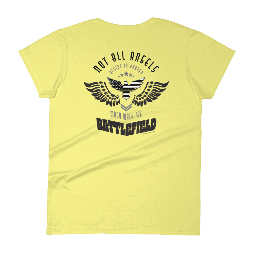 Woman's Tee: Not All Angels...-TrainOurTroops-TrainOurTroops