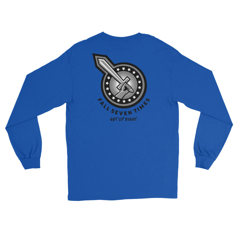 Men's Long Sleeve: Fall Seven Times...-TrainOurTroops-TrainOurTroops
