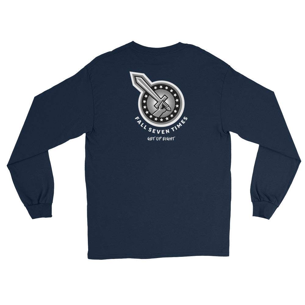 Women's Long Sleeve: Fall Seven Times...-TrainOurTroops-TrainOurTroops