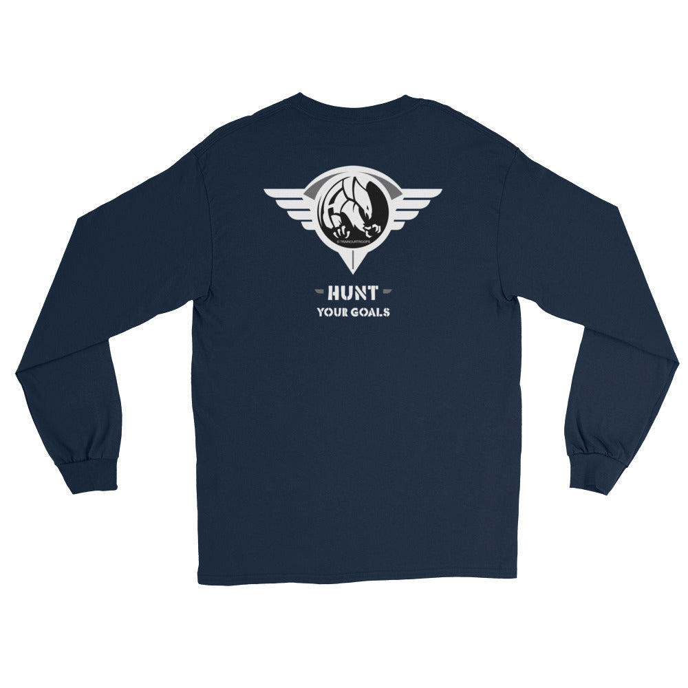 Men's Long Sleeve: Hunt Your Goals-TrainOurTroops-TrainOurTroops