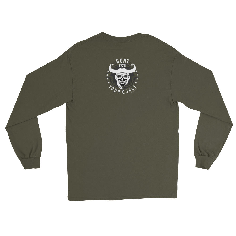 Women's Long Sleeve: Hunt Your Goals-TrainOurTroops-TrainOurTroops