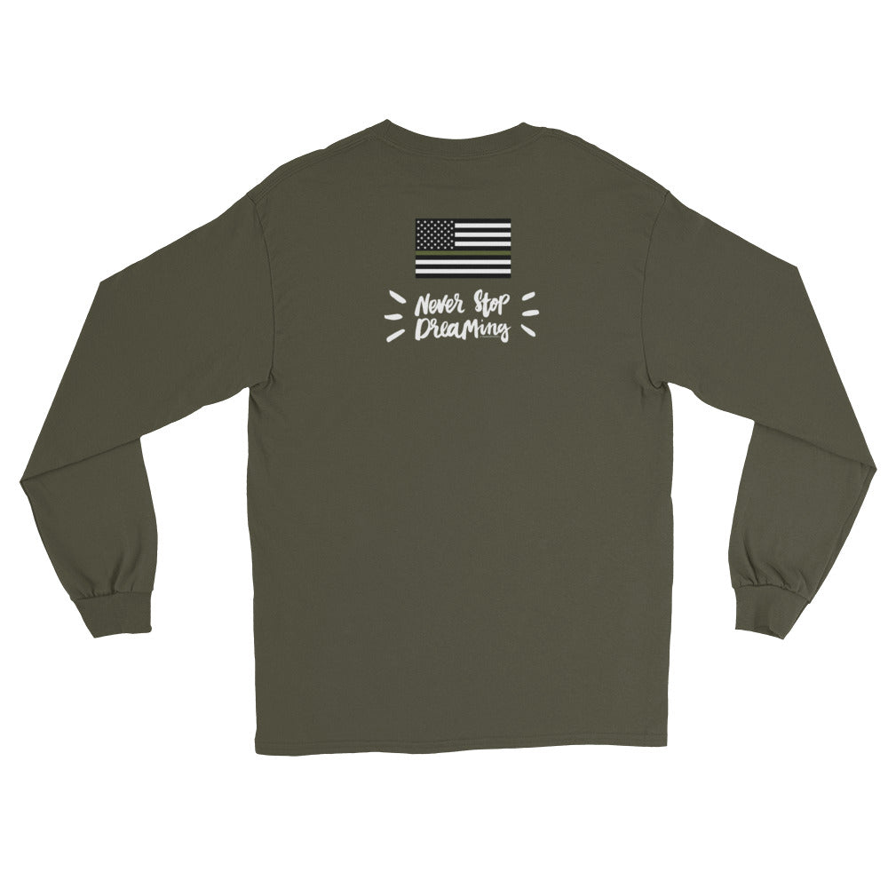 Women's Long Sleeve: Never Stop Dreaming-TrainOurTroops-TrainOurTroops