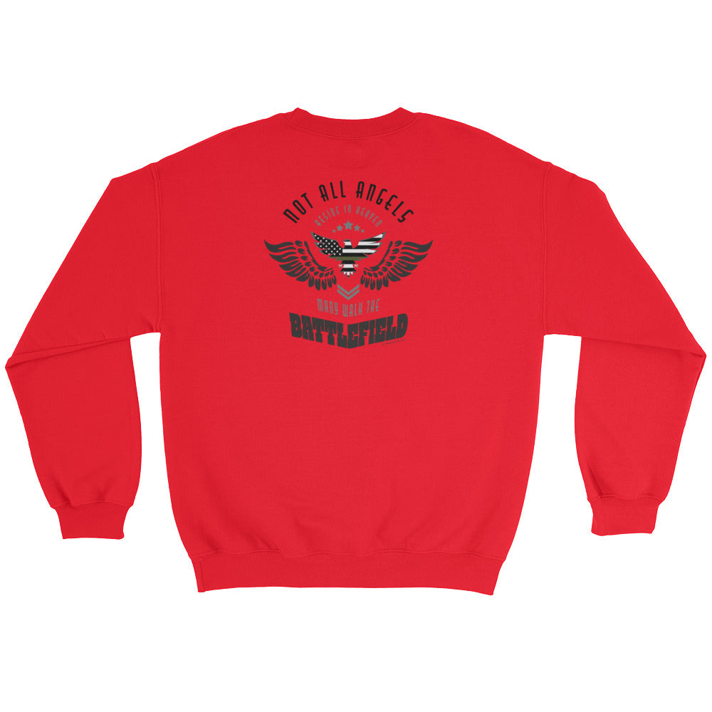 Woman's Sweatshirt: Not All Angels...-TrainOurTroops-TrainOurTroops