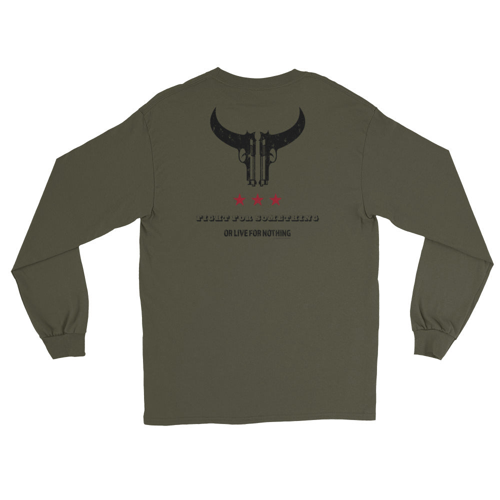 Men's Long Sleeve: Fight For Something...-TrainOurTroops-TrainOurTroops