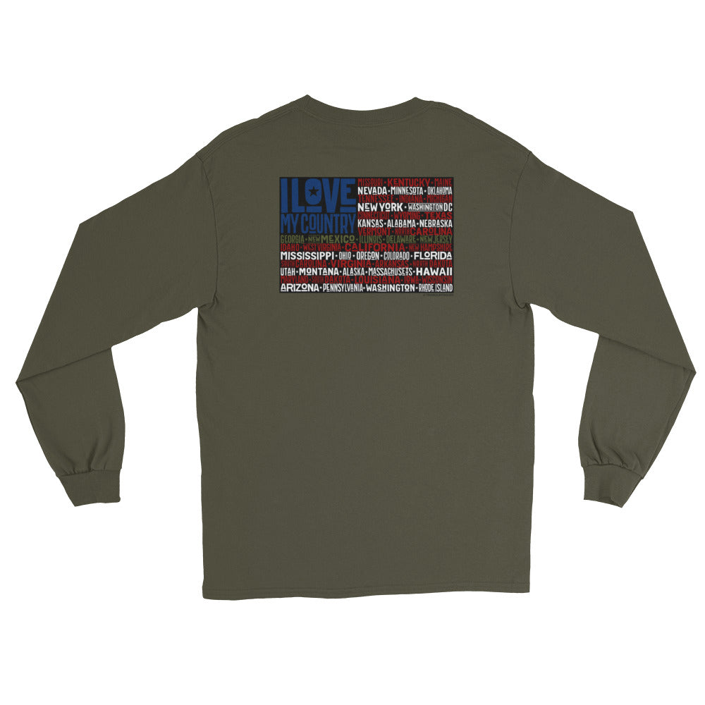Men's Long Sleeve: I Love...-TrainOurTroops-TrainOurTroops